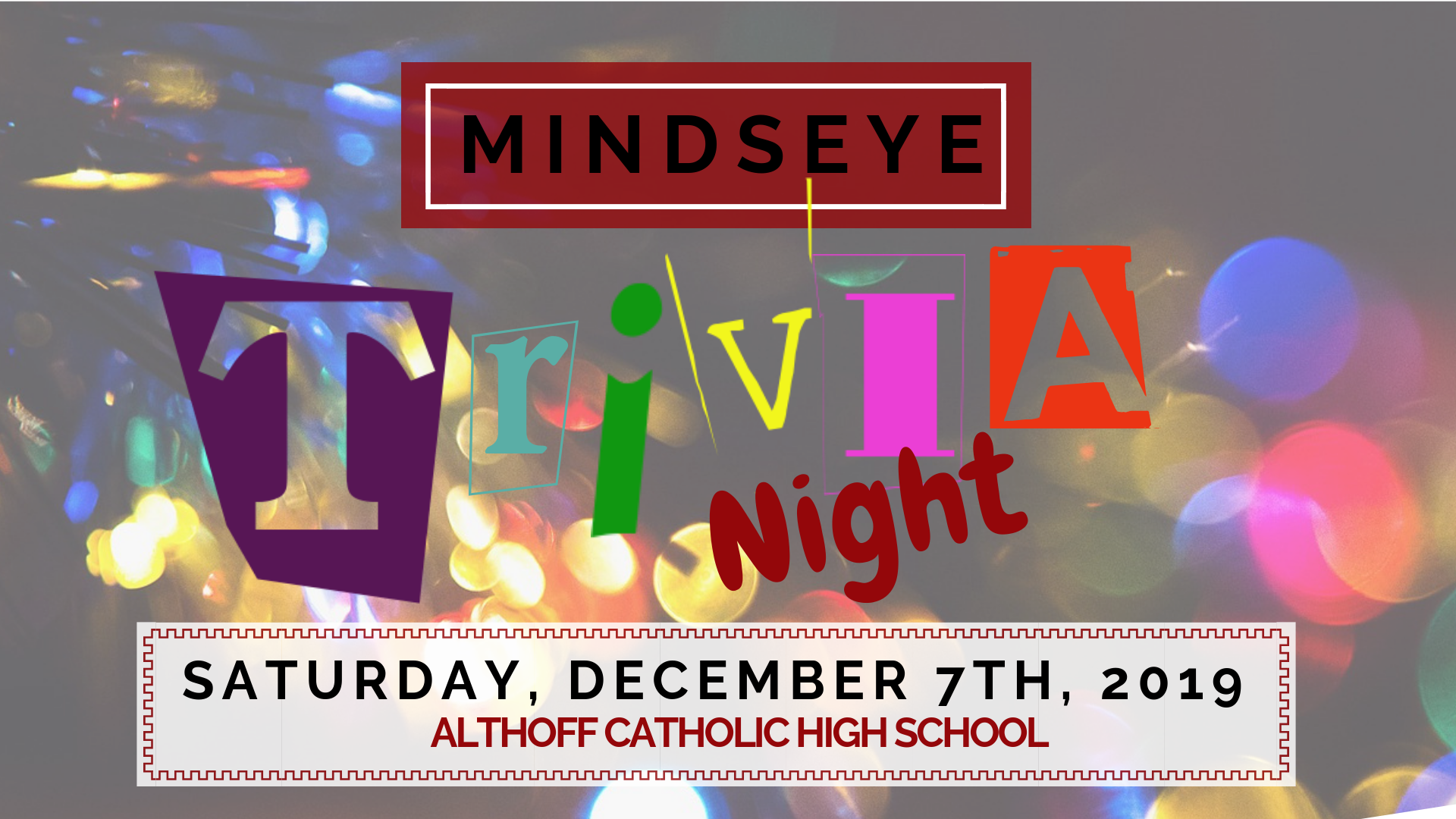 MindsEye's Holiday Trivia Night, December 2019 at Althoff Catholic High School, 5401 W Main St, Belleville, IL 62226